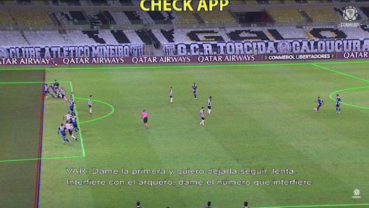 El audio del VAR del gol que le anularon a Boca Juniors.