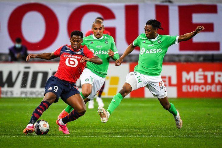 Lille quedó a una victoria de obtener el título de la Ligue 1 de Francia.