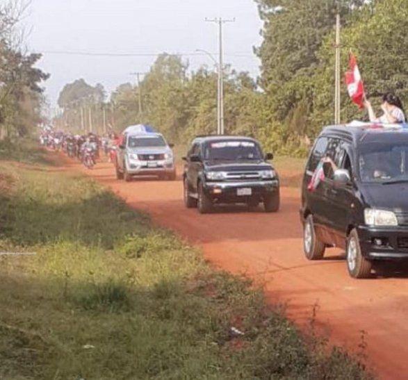 Pobladores de la localidad de General Delgado