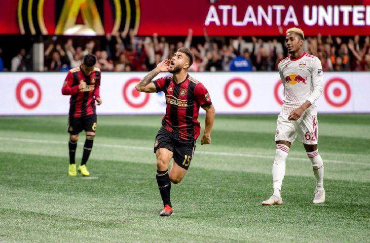 Tito Villalba celebra un gol con el Atlanta United.