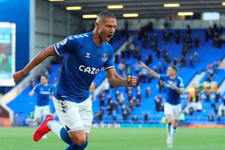 Richarlison celebra un gol del Everton.