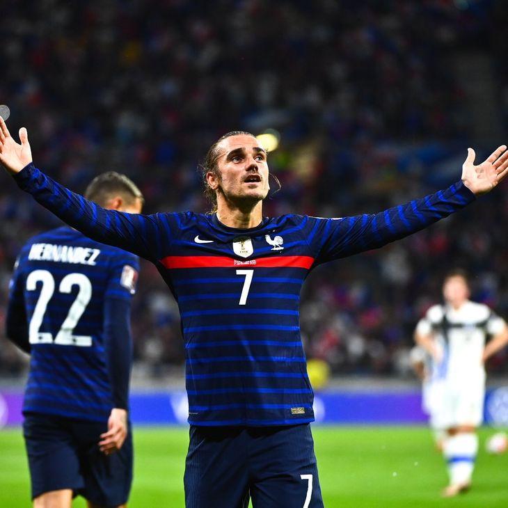 Antoine Griezmann celebra un gol de Francia.