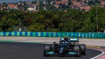 El finlandés Valtteri Bottas (Mercedes) dominó este viernes los entrenamientos libres para el Gran Premio de Hungría, el undécimo del Mundial de Fórmula Uno,