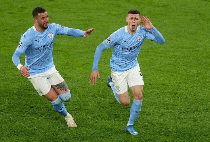 El City alcanzó las semifinales de la Champions League.