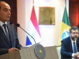 Durante la reunión celebrada este lunes en la sede de la Cancillería, Antonio Rivas instó a su homólogo de Brasil a trabajar de forma conjunta para mostrar en el exterior la potencialidad del Mercosur.