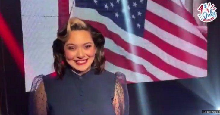 La cantante paraguaya Andrea Valobra entonará el himno de Estados Unidos por su independencia.