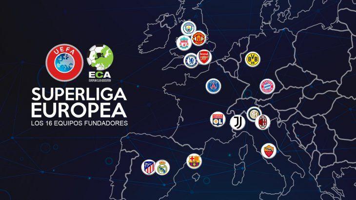 Una posible Superliga Europea contaría con 15 equipos fundadores