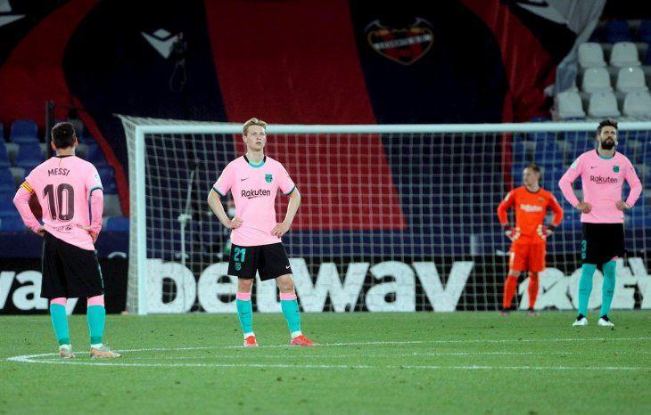 Barcelona empató ante Levante.