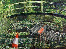 Show me the Monet fue expuesto en público por primera vez hace quince años como parte de la segunda muestra que dedicaba a Banksy la galería Whitewall.