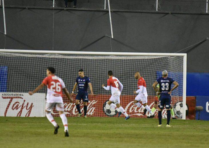 Pérez hizo el gol del triunfo ante Nacional.