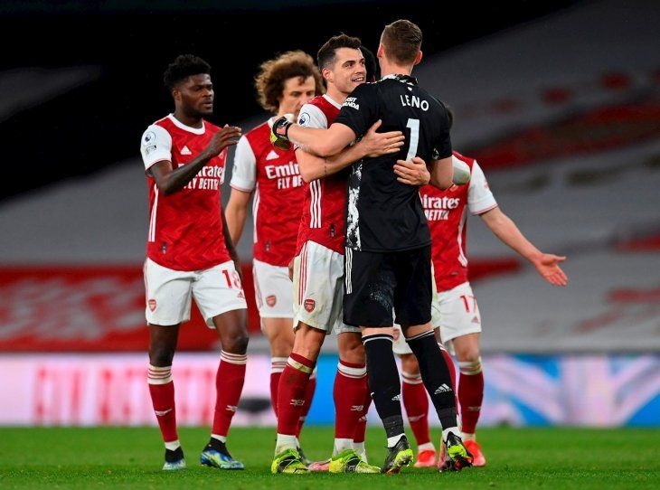 El Arsenal durante un partido de la Premier League.