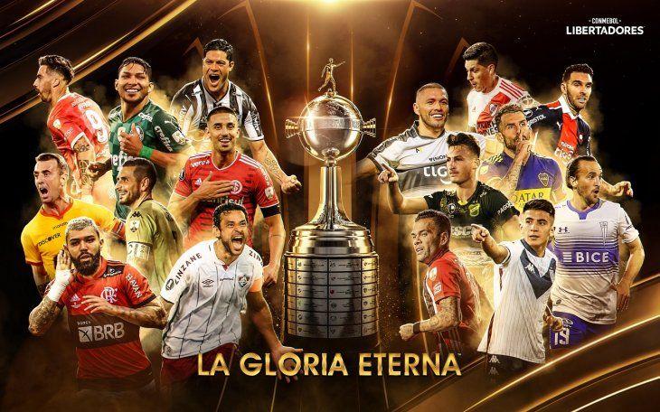Equipos que jugarán los octavos de final de la Copa Libertadores.