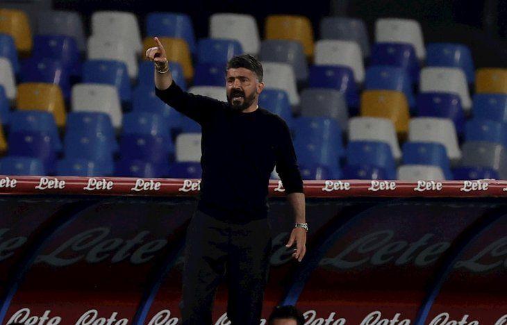 Gattuso dejó la dirección técnica del Napoli.
