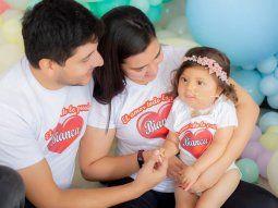 Alegría. Tania y José María derramaron lágrimas de amor por su única hija Bianca y libraron una lucha sin cansancio hasta alcanzar el objetivo con la ayuda de todos.