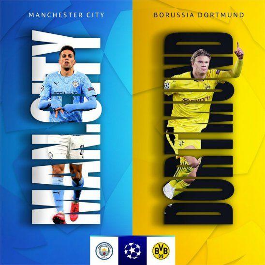 Electrizante duelo entre Manchester City y Borussia Dortmund.