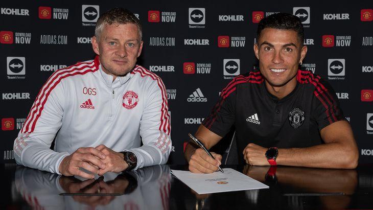 Ole Gunnar Solskjaer confirmó el debut de Cristiano Ronaldo.