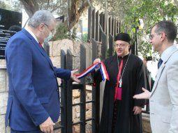 Participaron del acto, monseñor Habib Chamieh, obispo de  la Eparquía Maronita en la Argentina y delegado ad instar hierarchae  loci en Paraguay; Jean Elías El Asmar, alcalde, presidente del Consejo  Municipal.