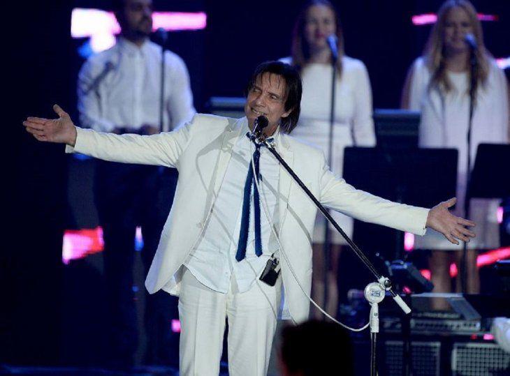 El músico brasileño Roberto Carlos en la Gala celebrada en Las Vegas en la que fue reconocido como Persona del Año por la Academia Latina de la Grabación. Foto: EFE.