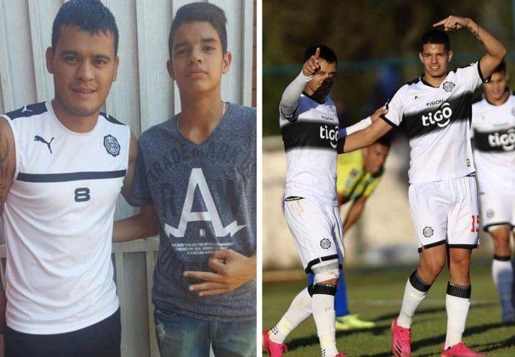 William Mendieta y Gustavo Peralta. Foto en 2015 y compañeros en el 2021.