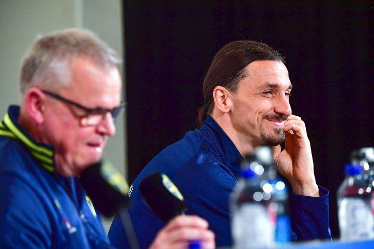 Ibrahimovic durante una conferencia de prensa.