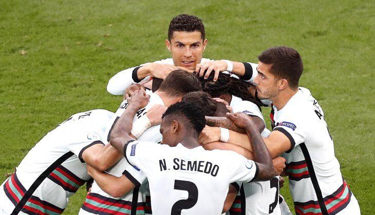 Portugal venció a Hungría por la Eurocopa.