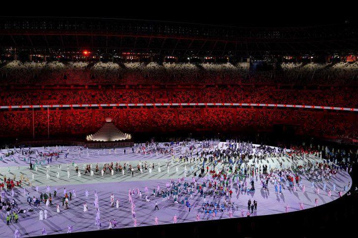 Los atletas de los Juegos Olímpicos de Tokio 2020 desfilaron este viernes al ritmo de canciones de famosos videojuegos.