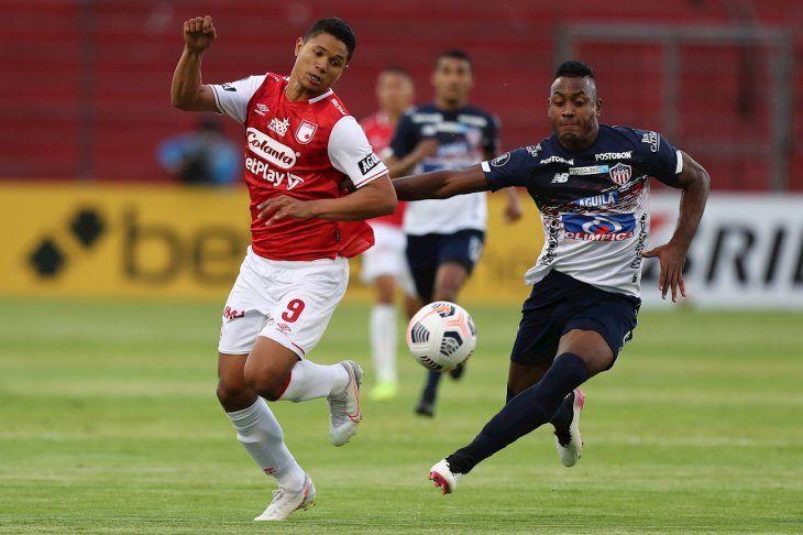 Hubo paridad entre Independiente Santa Fe y Junior por Copa Libertadores.