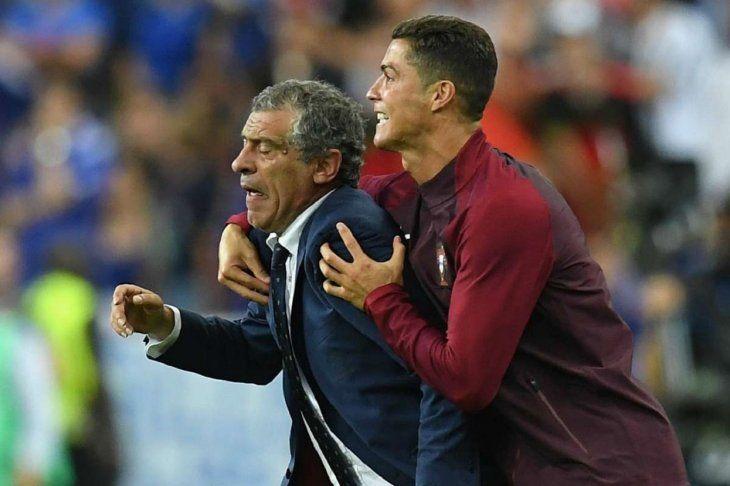 Fernando Santos y Cristiano Ronaldo ganaron la Eurocopa 2016 con Portugal.
