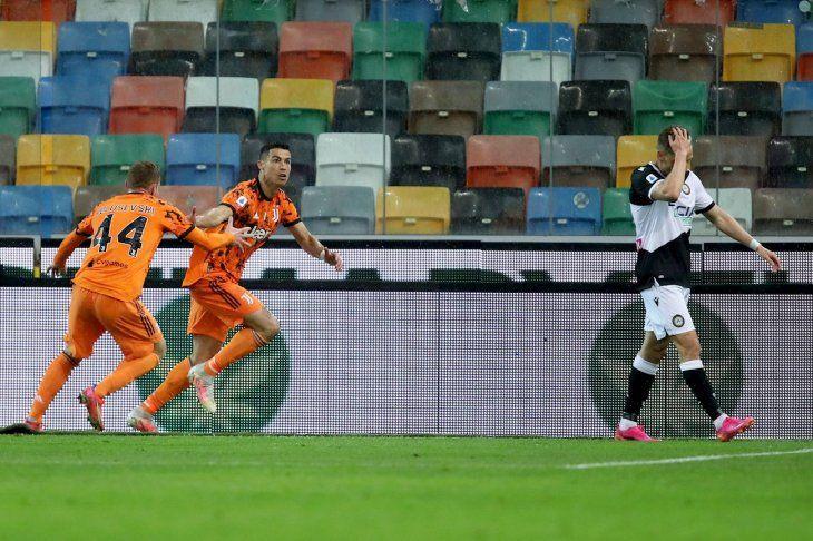 Cristiano Ronaldo le dio el triunfo a Juventus.