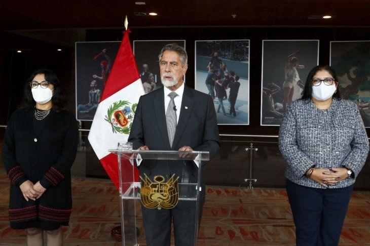 El presidente interino de Perú