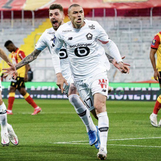 El Lille golea y da otro paso hacia el título.