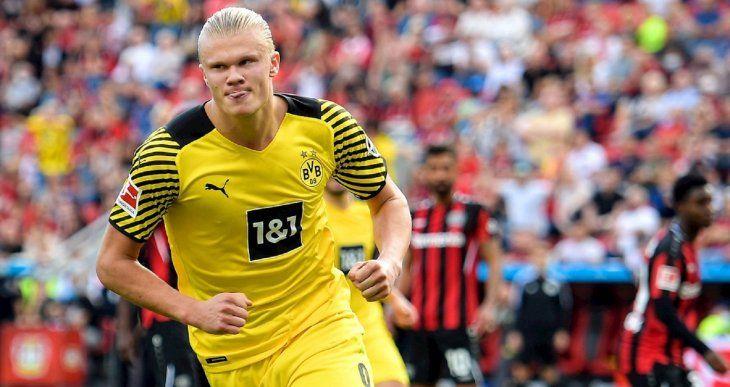 Haaland volvió a brillar en el Dortmund.