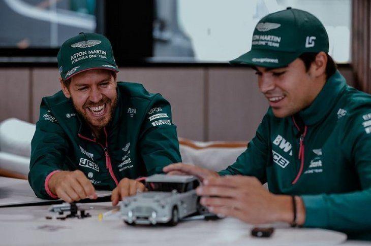 Lance Stroll y el alemán Sebastian Vettel seguirán al volante de la escudería Aston Martin la próxima temporada.