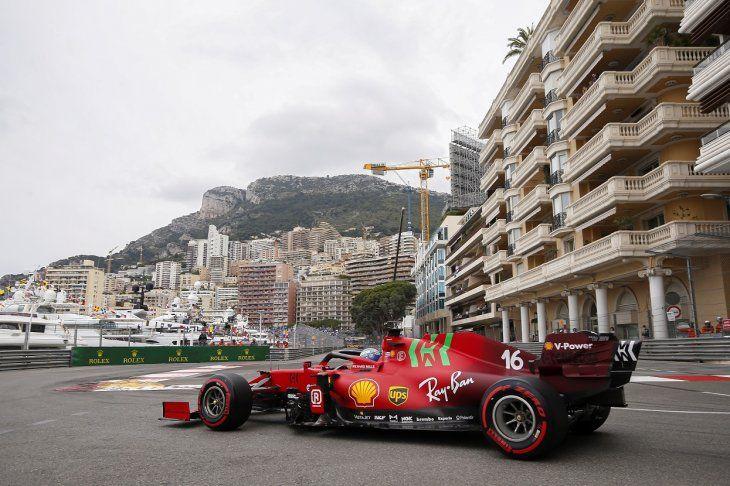 Postal del Gran Premio de Mónaco.