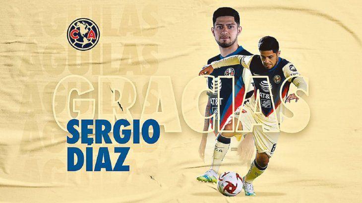 Sergio Díaz no seguirá en el América.