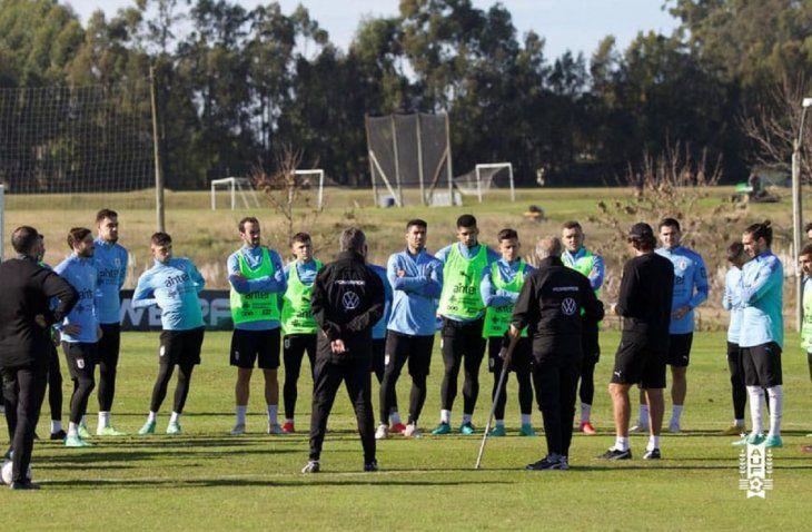 Uruguay entrenó este sábado en Montevideo.
