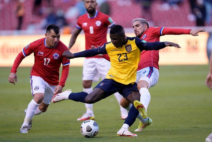 Ecuador y Chile empataron en Quito.