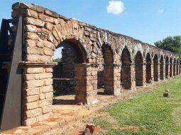 Las obras de restauración de una parte de la estructura de la Misión  Jesuítica de Santísima Trinidad del Paraná, fue realizada por la Secretaría Nacional de Turismo (Senatur).