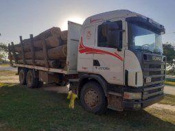 El hombre sería responsable de una carga de 20 rollos de primera de  palo santo, que estaban siendo transportados en un camión de gran porte,  en la ciudad de Puerto Casado.