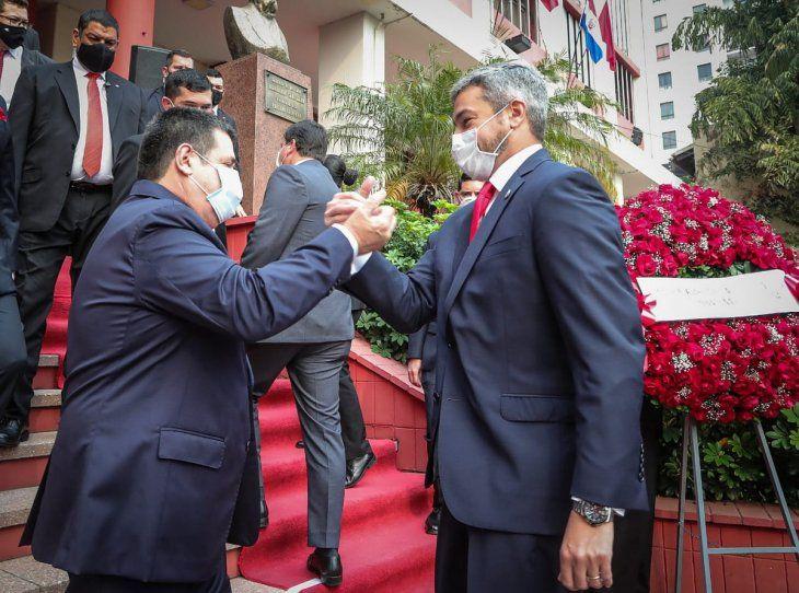 Otros tiempos. Horacio Cartes y Mario Abdo Benítez.