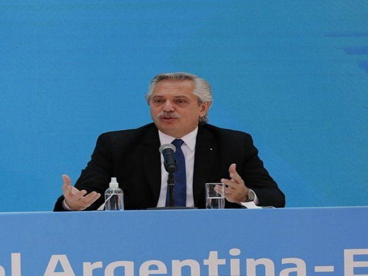 Se disculpó. Alberto Fernández