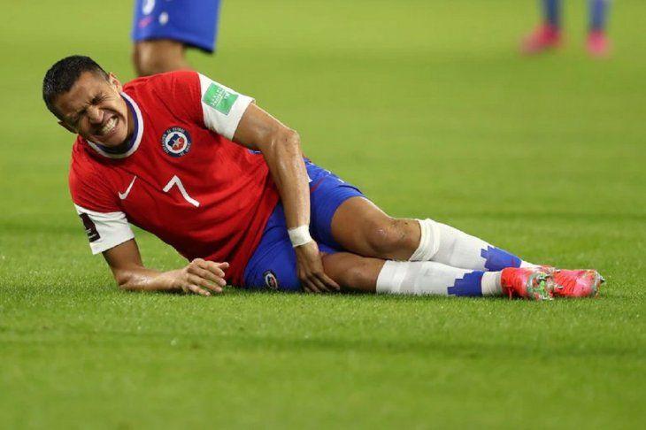 Alexis Sánchez se lesionó en Chile.