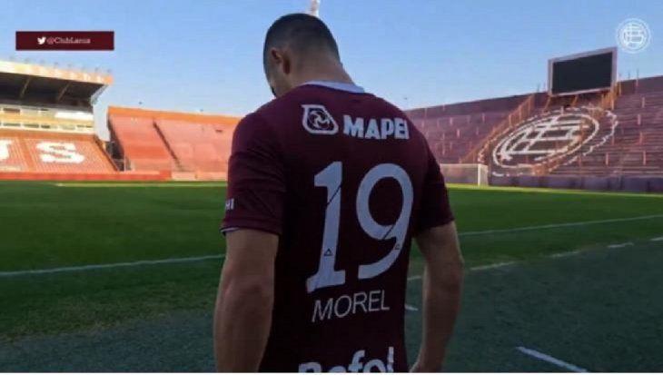 Jorge Morel debutó en Lanús.