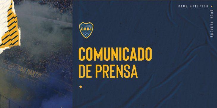 Boca Juniors sacó un comunicado tras el escándalo en Brasil.