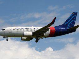 El avión de la aerolínea Sriwajaya, un Boeing 737-524, se estrelló en el  Mar de Java pocos minutos después de haber despegado del Aeropuerto  Internacional Sukarno-Hatta.