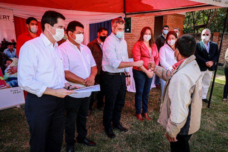 Mario Abdo Benítez visitó este jueves la colonia San Juan