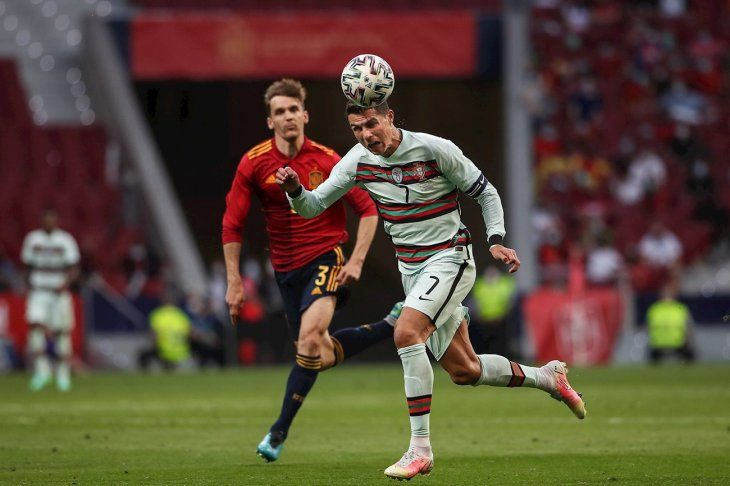 España y Portugal empataron sin goles camino a la Eurocopa.